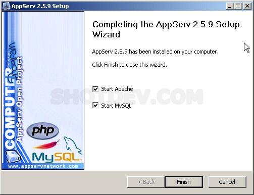 Install PHP,Apache,MySQL (With Appserv)