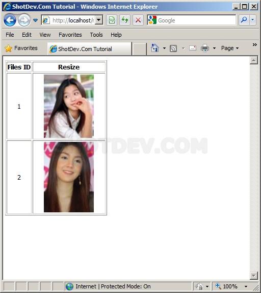 ASP & Resize image and insert to database.