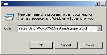 "ASP & Execute/Run .exe Server.CreateObject(""ASPExec.Execute"")"