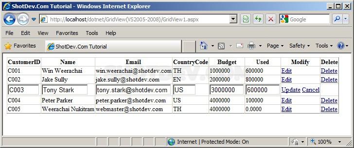ASP NET(vb net) & GridView - Oracle Database - System Data