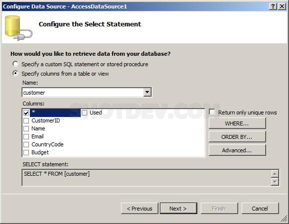 ASP.NET(vb.net) & ListView Control
