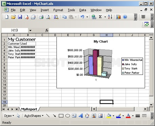 PHP & Chart/Graph - Export to XML (Excel.Application)